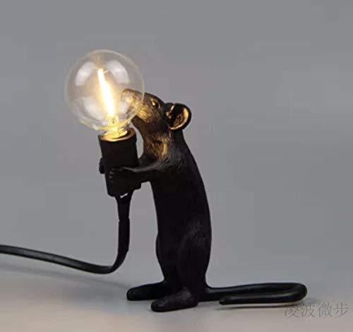 Lámpara De Mesa De Ratón, Lámpara De Animal Nórdica, Sala De Estar,...