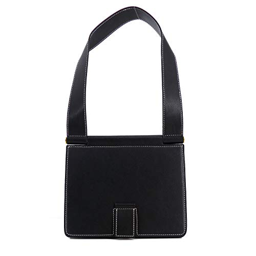 Rouven STUDIO.MUNET Leder Handtasche Schultertasche Tasche/Freda 24 Shoulder Tote Bag/medium / 24x26x11 cm/Schwarz Black Noir