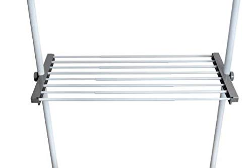WENKO Regalboden Herkules, Stahl, 73-120 x 4 x 42.5 cm, Weiß