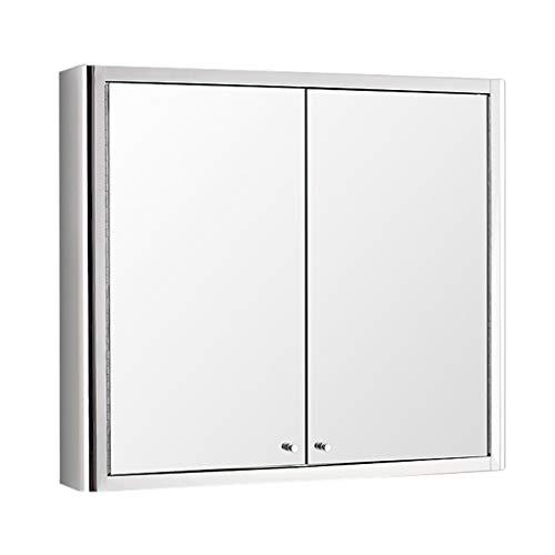 Armoire De Toilette Avec Porte Miroir Armoire De Toilette Miroir Armoire De Toilette Miroir Armoires De Toilette Miroir (Color : Silver, Size : 80 * 70 * 13cm)