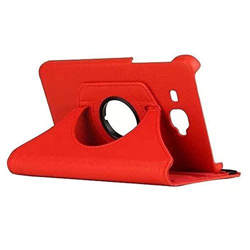 360 Funda de Cuero de PU Giratorio para Samsung Galaxy Tab A A6 7.0 T280 285 SM-T280 SM-T285 Funda de Tableta Soporte Inteligente Cubierta Cubierta-Rojo