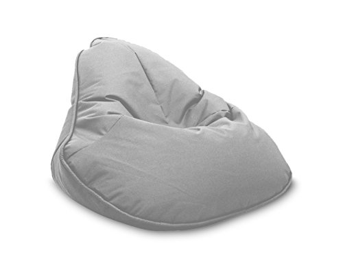 Pouf Beanbag Fleur Polyester Imperméable pour extérieur 120 x 80 cm Gris Pierre