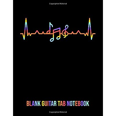 Cheap Blank Guitar Tab Notebook Guitar Tablature Notebook With 120 Blank Guitarists Tab Pages Large 8 5x11 In Size For 6 String Guitars Tabs For Guitar Musicians To Beginners Just Starting