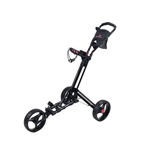 haozai Golf Trolley, 3-Rad-Klappwagen Mit Scorekartenhalter - Einstellbarer Griffwinkel - Für Außenplätze
