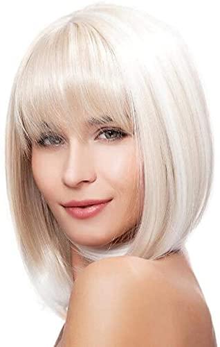 Peluca de pelo rizado corto y medio, para mujer, natural, resistente al calor, sintética, peluca completa, adecuada para disfraces de cosplay, fiesta de Halloween