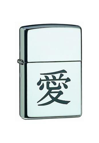 Zippo-Accendino 50855663 with Japanese Sign of Love, Dimensioni 3,5 x 1 x 5,5 cm