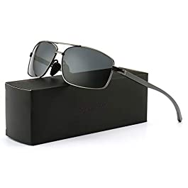 SUNGAIT Ultra Lightweight Rectangular Polarized Sunglasses UV400...