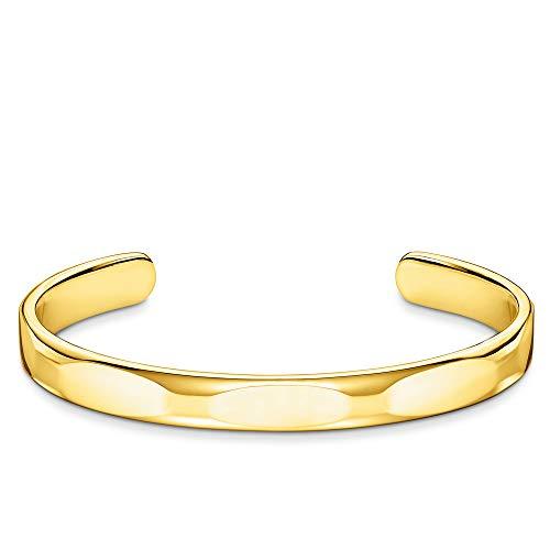 Thomas Sabo Unisex-Armreif, schmal Puristisches gold 925 Sterlingsilber gelbgold vergoldet AR098-413-39-L16