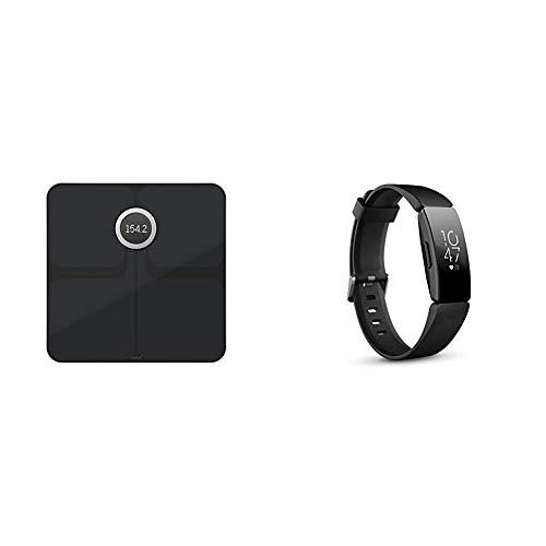 Fitbit Aria 2 Intelligente WLAN-Waage, Black, One Size & Inspire HR Gesundheits- & Fitness Tracker mit automatischer Trainings Erkennung, 5 Tage Akkulaufzeit, Schlaf- & Schwimm-Tracking, Schwarz