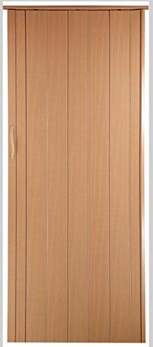 Falttür Schiebetür Tür buche farben Höhe 202 cm Einbaubreite bis 96 cm Doppelwandprofil Neu