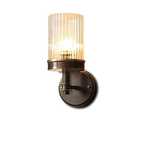 YANQING Duurzame Amerikaanse Country Retro Nachtlampje Koper Glas Lampenkap Zwarte Wandlamp Wandlamp Verlichting Lamp 3-8 Vierkante Meters Slaapkamer Eetkamer Corridor Bar Cafe