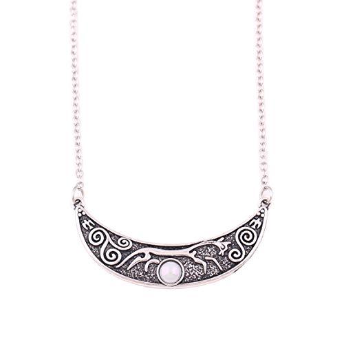 HuiLin Jewelry Epona Chalk Horse of Uffington Necklace Rhiannon Celtic Horse Goddess Necklace (1)