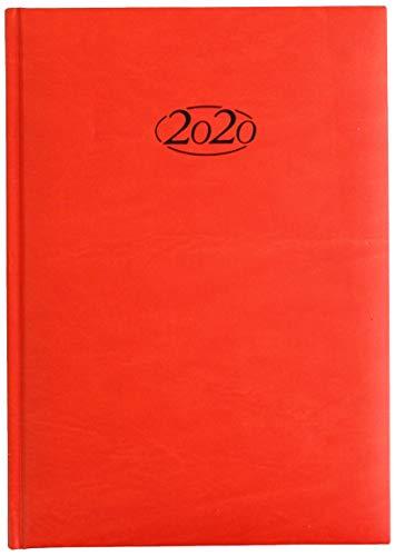 Idena 11441 - Agenda settimanale 2020, 17, 5 x 24, 5 cm, colore: Rosso