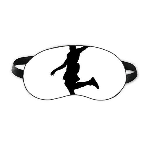 Capa para sombra noturna macia com proteção para os olhos do jogador de basquete Jumping Sports