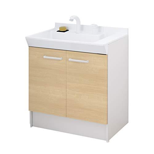 LIXIL(リクシル) INAX 洗面化粧台 V1シリーズ シングルレバー洗髪シャワー水栓 扉タイプ クリエペール 間口750mm V1N1-755SY/LP2H