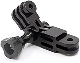 CNC Aluminium Alloy Three-Way Pivot Arm Mount Adapter for GoPro Hero 9/8/7/(2018)/6/5/4 Black,Hero 3+,DJI Osmo Action,AKASO/Campark/YI Camera