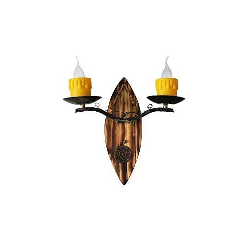 Zixin Vintage Land-Art-Kerze Design Wand-Leuchter-Beleuchtung Wandleuchte Licht Leuchten