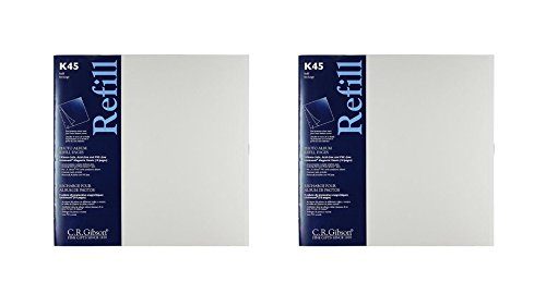 C.R. Gibson K45 Unimount Magnetic Sheet Refills for The P45 and P3X Series Photo Albums, 12x12 Pages - 2 Pack