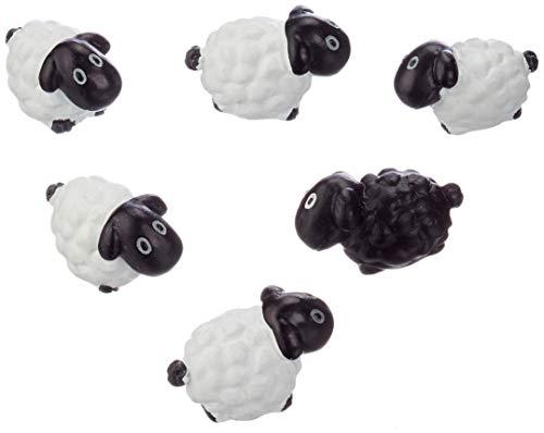 Trendform Sortierte Tierstil Büromagnete-Schafe, Metall, Silver, 25 x 10 x 3 cm