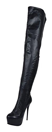 Plateau Crotch Overknee High Heel Stiefel ANNA2 (42)