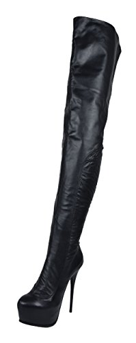 Plateau Crotch Overknee High Heel Stiefel ANNA2 (40)