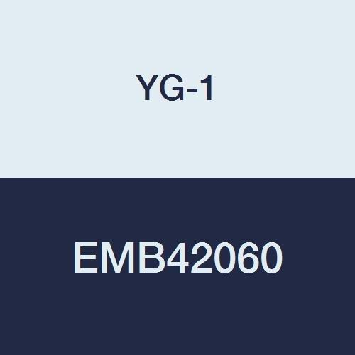 YG-1 EMB42060 6.0 mm Carbide V7 Mill INOX End Mill, 4 Flute, Short Length, 54 mm Length