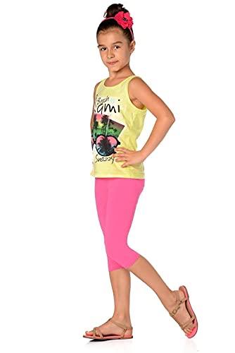 AE AE Kinder 3/4 Leggings in 22 Farben Baumwolle, Gr. 92 bis 158 cm, p701 Rosa 110
