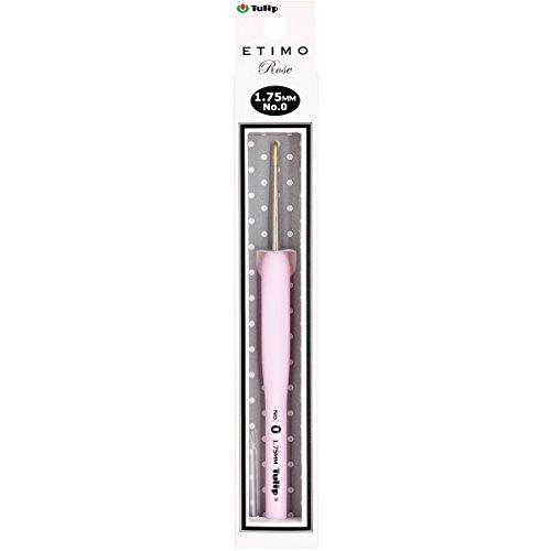 Tulip Needle Company TEL-00E Etimo Rose Steel Crochet Hook-Size 0/1.75mm