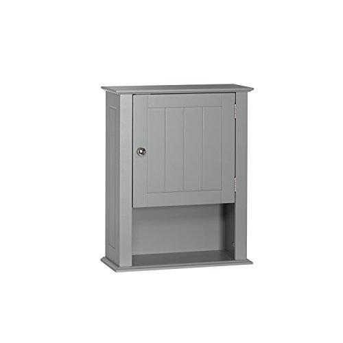 RiverRidge Ashland Collection-Single Door Wall Gray Cabinet