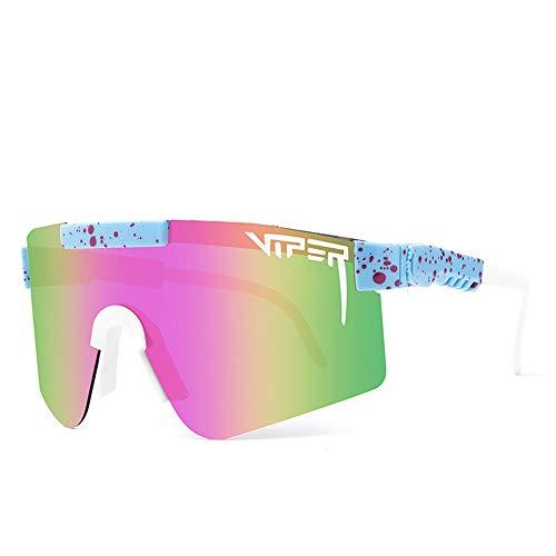 WOHCO Pit Viper Gafas de Sol, Gafas de Sol Deportivas para Hombres, Mujeres, Ciclismo, Correr, Conducción, Pesca, Gafas de Golf, Gafas Deportivas a Prueba de Viento Marco irrompible