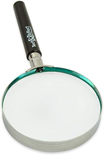 Large Magnifying Glass - Hand Lens Magnifying Glasses for Reading -...