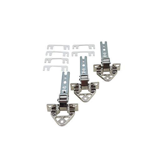 3 x Scharnier für Kühl Gefrierschrank wie Bosch Siemens 268698 00268698 268699 00268699