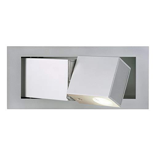 SLV BEDSIDE LED 146252 Wandleuchte, 3W, RECHTS, warmwei�e Spot LED, silbergraues Geh�use