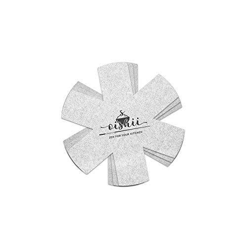 Oishii Pfannenschutz 3er Set 26 cm, schneidbarer Pfannenschoner, Stapelschutz für Pfannen, Töpfe, Schüsseln und Teller