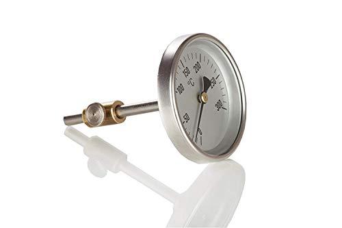Sun and Ice Hochwertiges Profi Thermometer aus Edelstahl passend für Omnia Camping Backofen, Made in Germany
