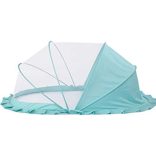 JUSTDOLIFE babybed muggennet draagbaar opvouwbaar pop-up cakenet babybednet Eén maat blauw