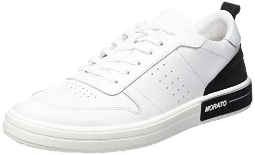 Antony Morato Sneaker Drake IN Pelle, Oxford Plano Hombre, Color Blanco, 43 EU