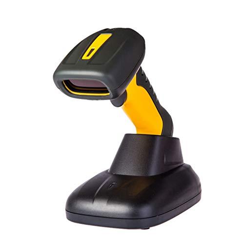 BTASS Scanner de Code à Barres sans Fil, (2 en 1 sans Fil et USB 2.0 câblé Connexion) 1D 2D Lecteur de Code à Barres Automatique de Laser de la, pour Magasin, Supermarché, Entrepôt