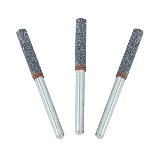 iFCOW Piedra de afilar motosierra multipack de 3 unidades de 4 mm 5/32 'afilador de motosierra de diamante herramienta de afilar