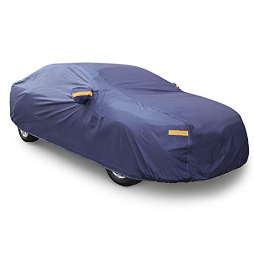 uxcell 3XL Blue Car Cover Outdoor Weather Waterproof Breathable Scratch Rain Snow Heat Resistant 490 x 180 x 160cm
