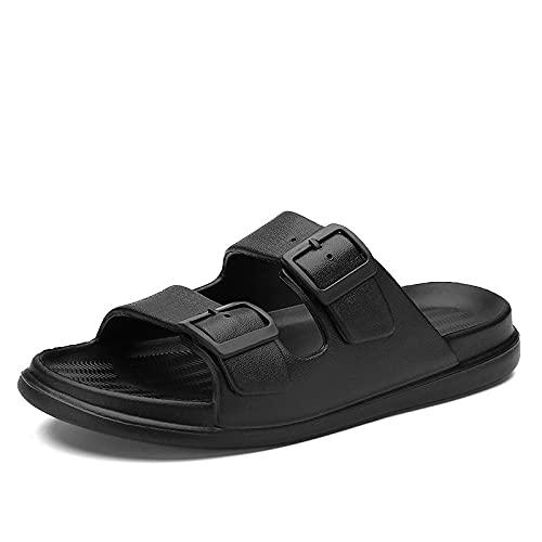 LXDWJ Zapatillas de mujer al aire libre Zapatos de mujer casual Zapatos de pareja (Color : Black, Size : 42)