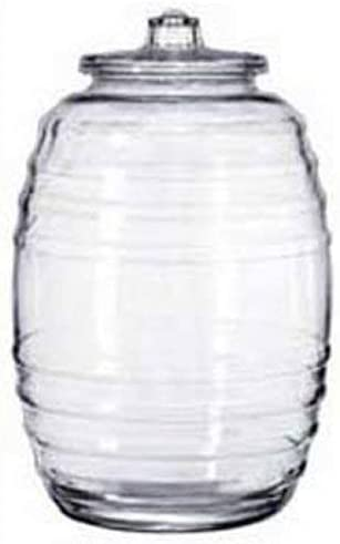 Libbey 9520004 Glass Display Barrel Online limited product 5-1 Capacity Gallon 4 70% OFF Outlet -
