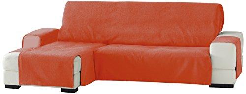 Eysa Zoco - Funda para chaise longue, izquierda, vista frontal, 240 cm, Naranja