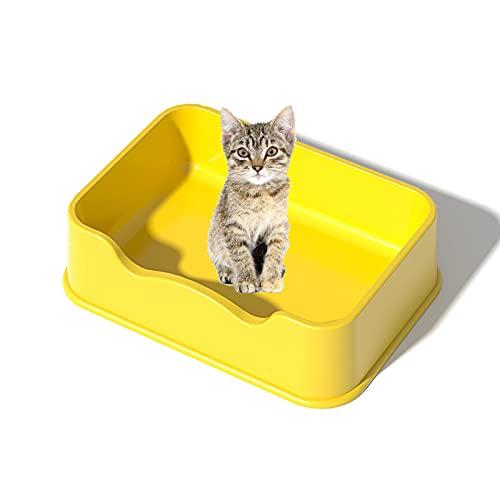 Yoropd Aseo Cuadrado de Gato, Asiento de Inodoro de Gato a Prueba de Salpicaduras, Caja de Gato de Alta Cerca, ventilación de circulación multifunción de 50 × 50 × 36 x 15cm