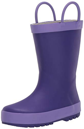 Weestep Girls Toddler Little Kid Warm Fur Winter Ankle Flat Snow Boot(1 Little Kid, Purple)