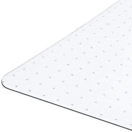 Floordirekt PRO - 9 Größen zur Wahl - Polycarbonat Bodenschutzmatte transparent für Teppich und Teppichböden (100x120 cm)