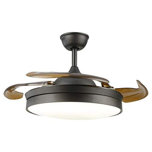 YING Control de lámpara de Ventilador de Techo de 42 Pulgadas 65W con Luces Control Remoto silencioso Ventilador Ventilador lámpara para hogar-Negro