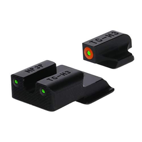 TRUGLO Tritium Pro Glow-in-The-Dark Handgun Night Sights for Smith & Wesson Pistols, S&W EZ 9mm, Orange Ring
