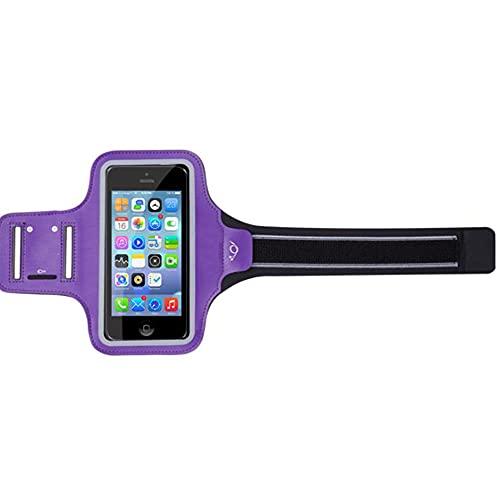 KKASOE Outdoor Sports Multifunctional Running Armband,Adjustable Waterproof Arm Bag for Women and Men (Purple)