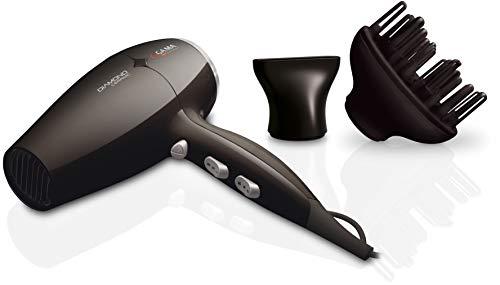 Gama Italy Professional Diamond - Secador de pelo, temperatura regulable 150-230 C, 2300 W, Color Negro